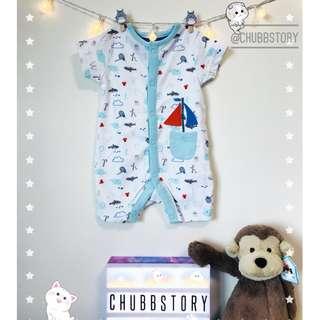 👶🏻 0-1M NEWBORN SAILOR LIFE ROMPER JUMPSUIT BABY CLOTHING BOYS CASUAL FASHION