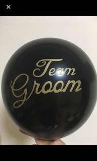 10 inch Team bride / Team Groom latex balloon