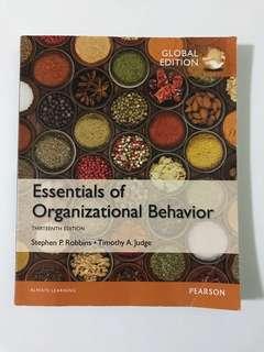 Essentials of organizational behavior (Global edition)