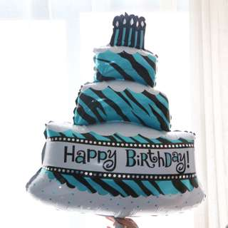Happy Birthday cake foil balloon