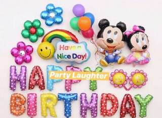 <In-stock> Happy Birthday Party Decoration set - baby Mickey & Minnie