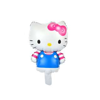 Pink/Blue Hello Kitty foil balloon