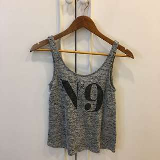 H&M Heather gray knit top