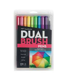Tombow dual brush pen art markers - bright