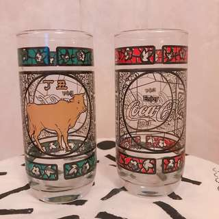🚨絶版💡Coca Cola玻璃杯 紅色x2 綠色x2