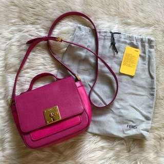 Fendi Bag Bugs Poppy Patent Leather Shoulder Bag