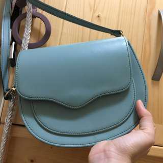 韓國湖水綠色跨包斜咩袋單肩包 Korea Tiffany Blue Bag