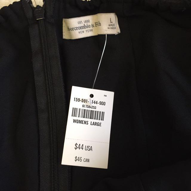 Abercrombie Off Shoulder Black Dress