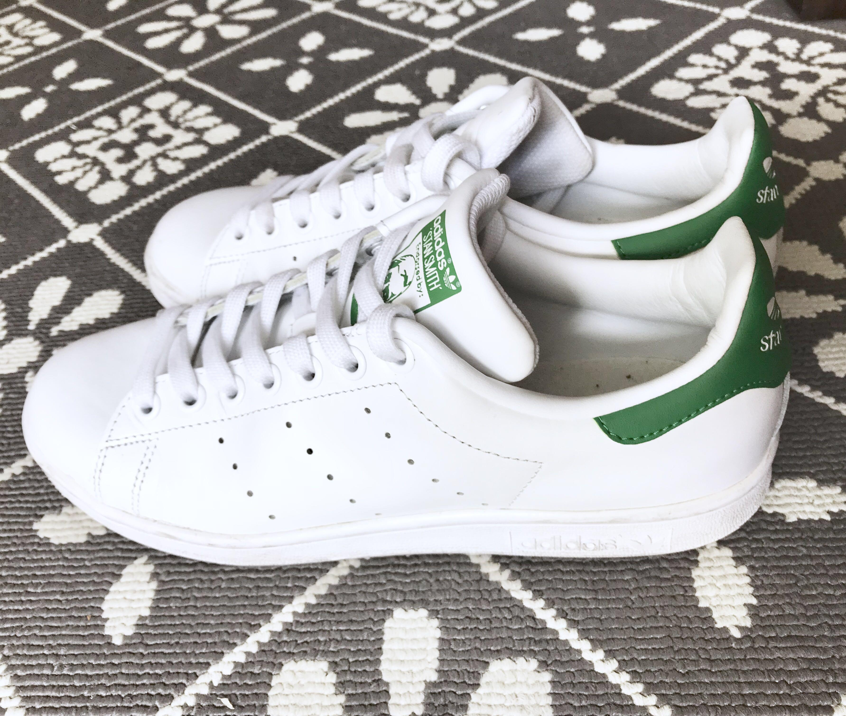 size 40 b7892 1c620 Adidas Stan Smith Size 7.5 Green / White Shoes authentic ...