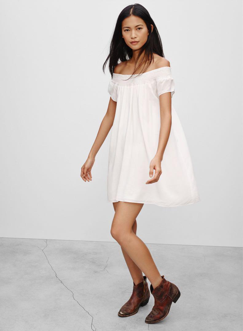 Aritzia Talula white Horatio Dress