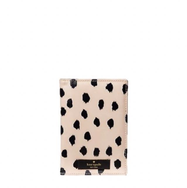 2f0bee3663c9 Authentic Kate Spade Daycation Passport Cover - Flamingo Dot ...