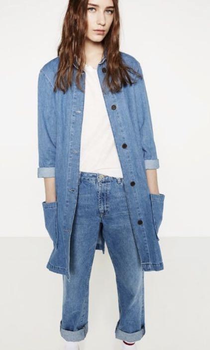 e3be0bf6 Authentic Zara Denim Frock Coat, Women's Fashion, Clothes, Outerwear ...