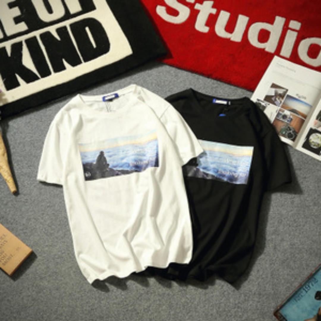 black graphic tshirt