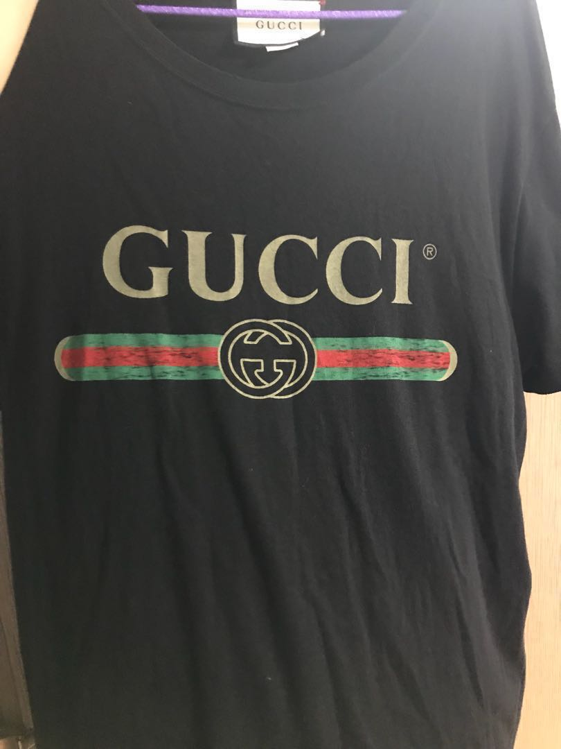 7119f5ef6dbd47 Black Gucci Belt Logo Tee
