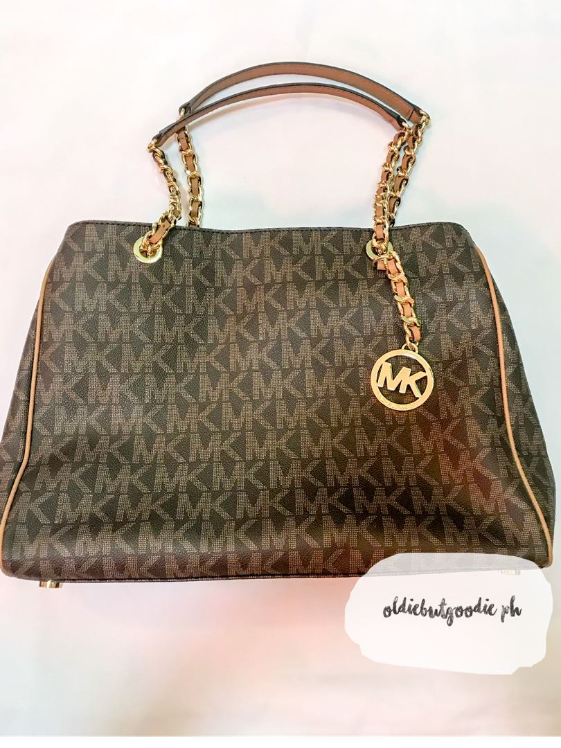 ac9f6e1b343d Brand New & Authentic Michael Kors Susannah Large Tote in Brown ...
