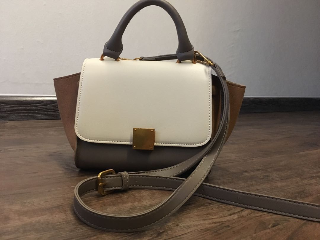 ae01711320 Celine Trapeze inspired small bag, Women's Fashion, Bags & Wallets ...