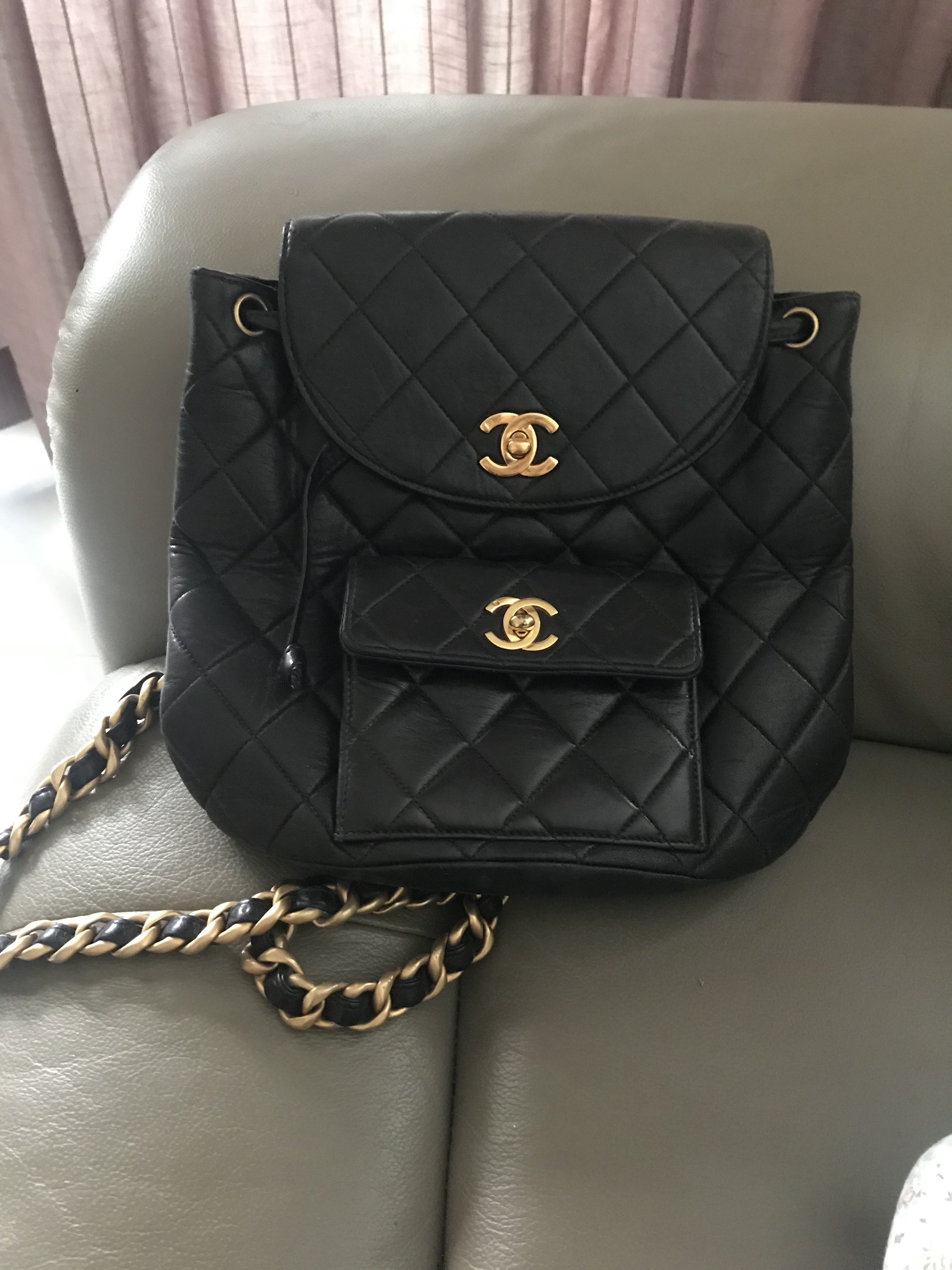 c9ca4ffb1d27 CHANEL vintage backpack, Luxury, Bags & Wallets, Handbags on Carousell