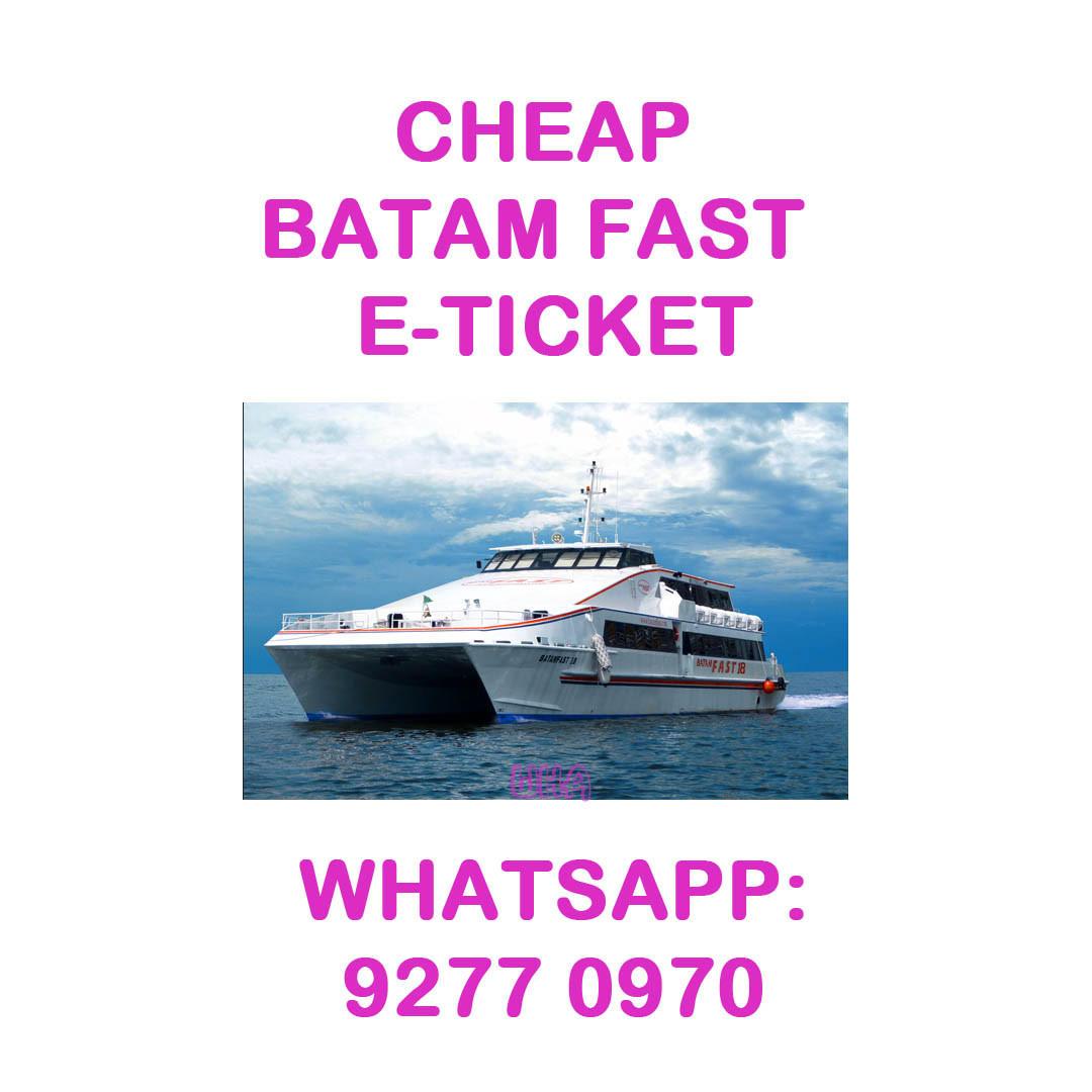 CHEAP Batam Fast E-tickets by Trustworthy Seller