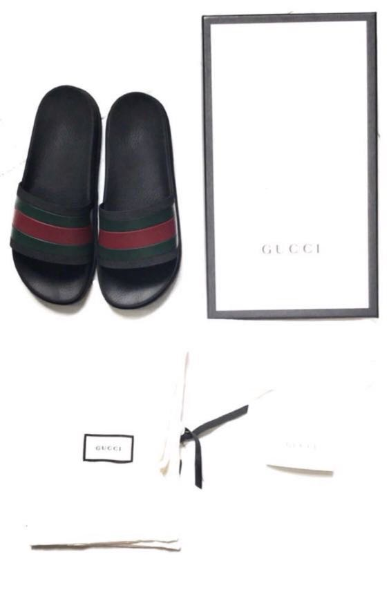 65a74431c Gucci Web Slide Sandals, Men's Fashion, Footwear, Sneakers on Carousell