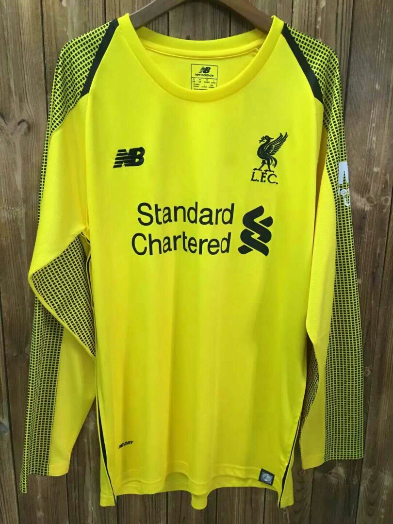 a8be185540a Liverpool 18-19 Home GoalKeeper Long Sleeve Kit, Sports, Sports Apparel on  Carousell