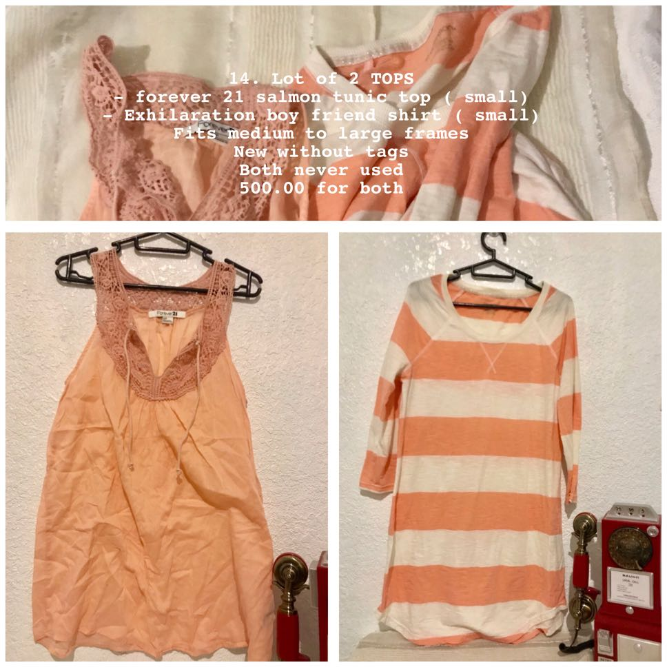 dc80718c97c Lot of 2 salmon tops forever 21 exhiliration, Women's Fashion ...