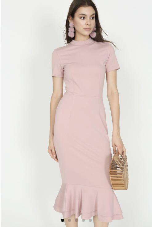 310bd66354fc2 MDS Mermaid Bodycon Dress in Blush, Women's Fashion, Clothes ...