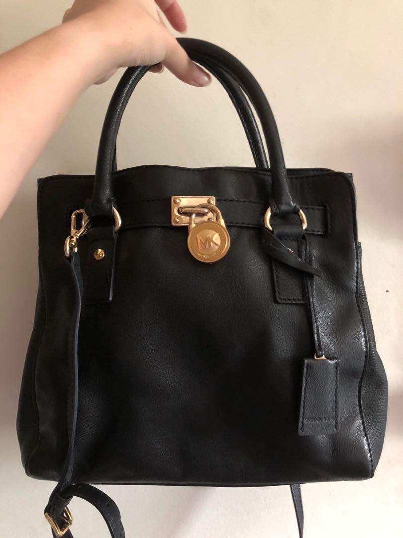 0a39b06c33f7e3 Michael Kors Hamilton Tote Bag - Black, Women's Fashion, Bags ...