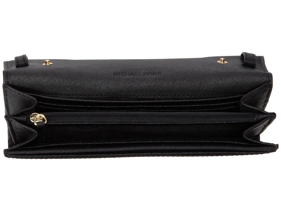 e954333dea7c4 Michael Kors Jet Set Travel Saffiano Leather Chain Wallet