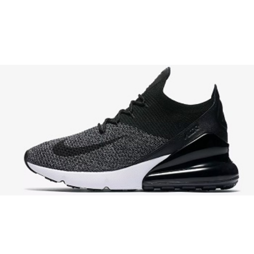 f7dcf350833 Nike Air Max 270 Flyknit (Black White)