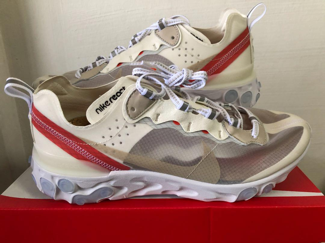 reliable quality outlet store online retailer Nike React Element 87 Sail (White colourway) US9, Men's ...