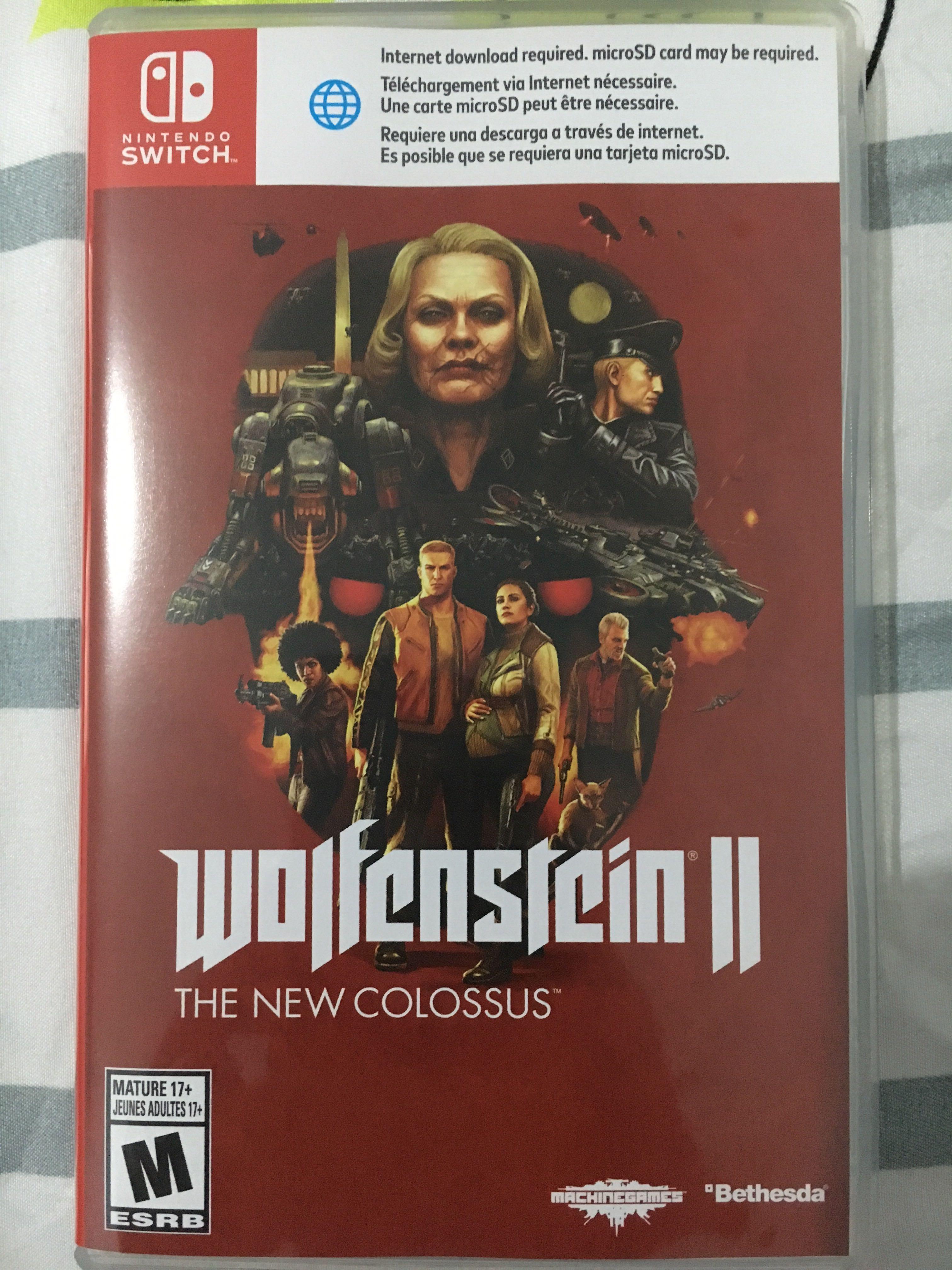Nintendo switch wolfenstein 2