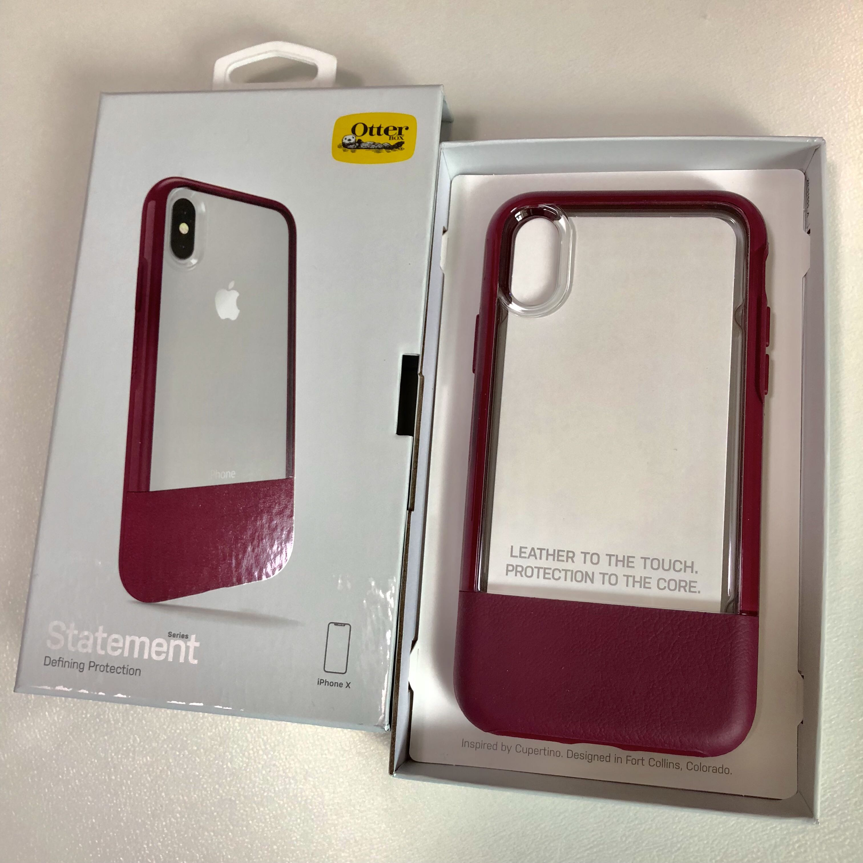 competitive price da207 d7dd2 OtterBox Statement Series Case for iPhone X (Wine)