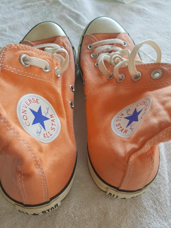 Peach Converse hightops