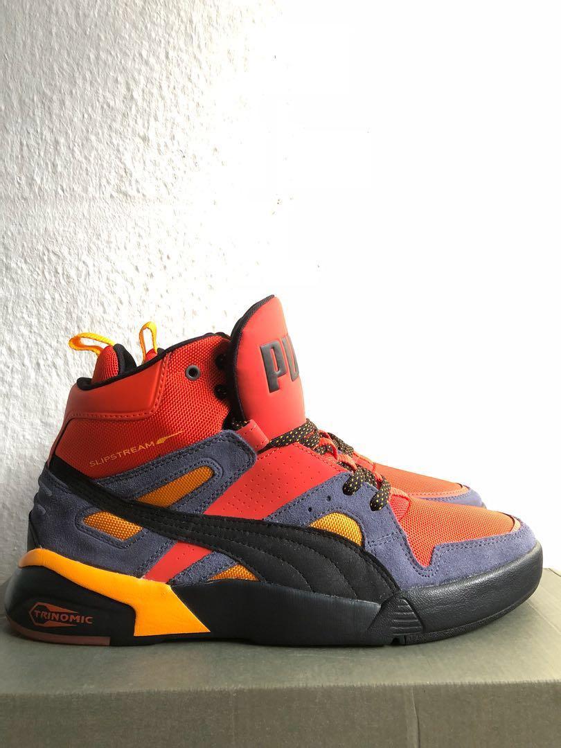tos mitología Abundantemente  Puma Trinomic Slipstream High Cut Sneakers (Orange), Men's Fashion,  Footwear, Sneakers on Carousell