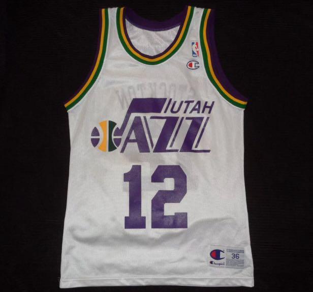 cheap for discount 56677 d1ba2 Re-priced NBA Jersey ( John Stockton jersey size 36 )