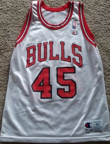 the latest 11bec 55f7a Re-priced NBA Jersey ( Michael Jordan Champion size 40 )