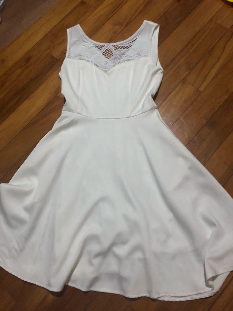 39549bb3e61 Short White Dress With Pockets, Women's Fashion, Clothes, Dresses ...