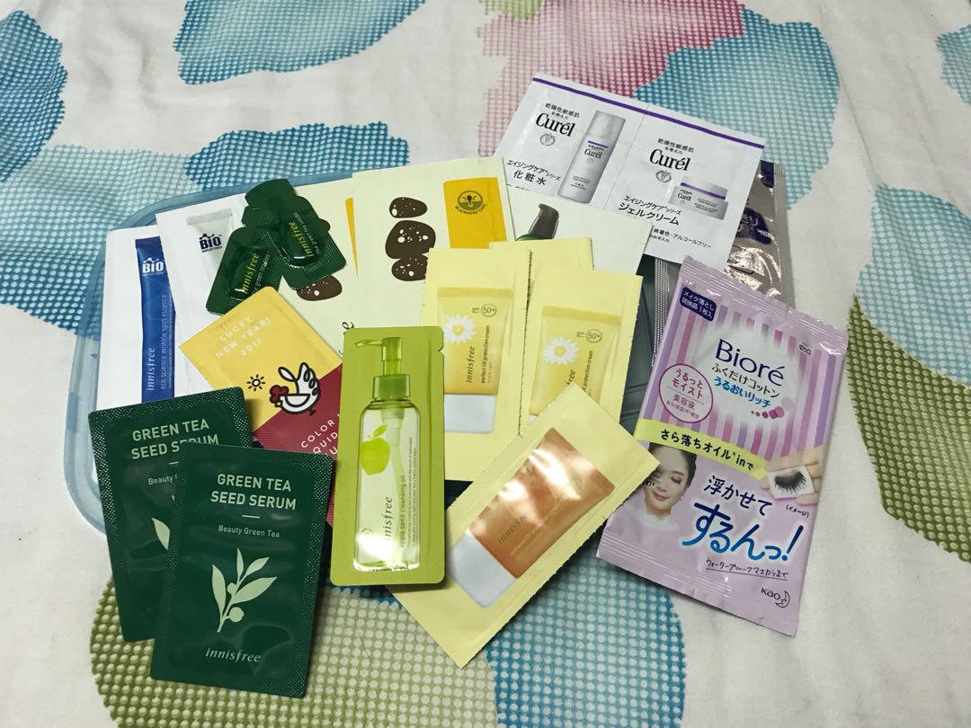 Skin Care Samples Health Beauty Face On Carousell Biore Cleansing Oil 150ml Free In Sheet 2s Sample