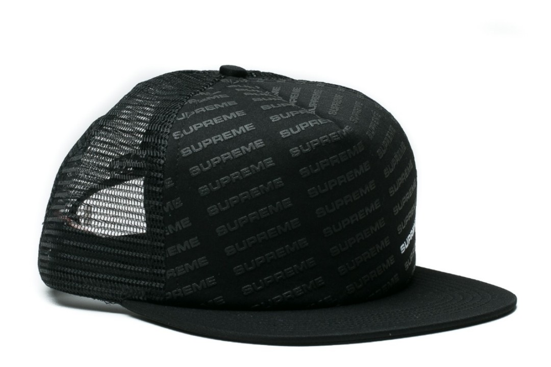 a9d18f5b8 Supreme Repeat Mesh Back 5-Panel BLACK