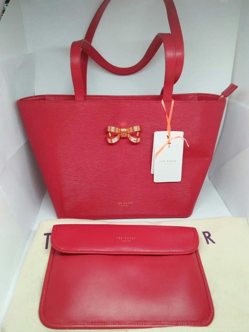 Ted Baker Original BOWDAI Loop bow small Leather bag c03c48390a
