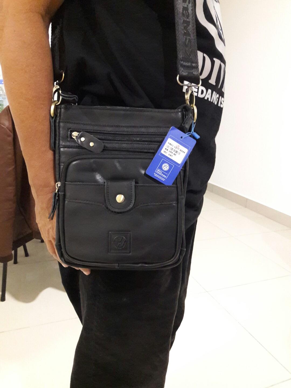 948e8ce92564 VOLKSWAGEN Sling Bag - Leather