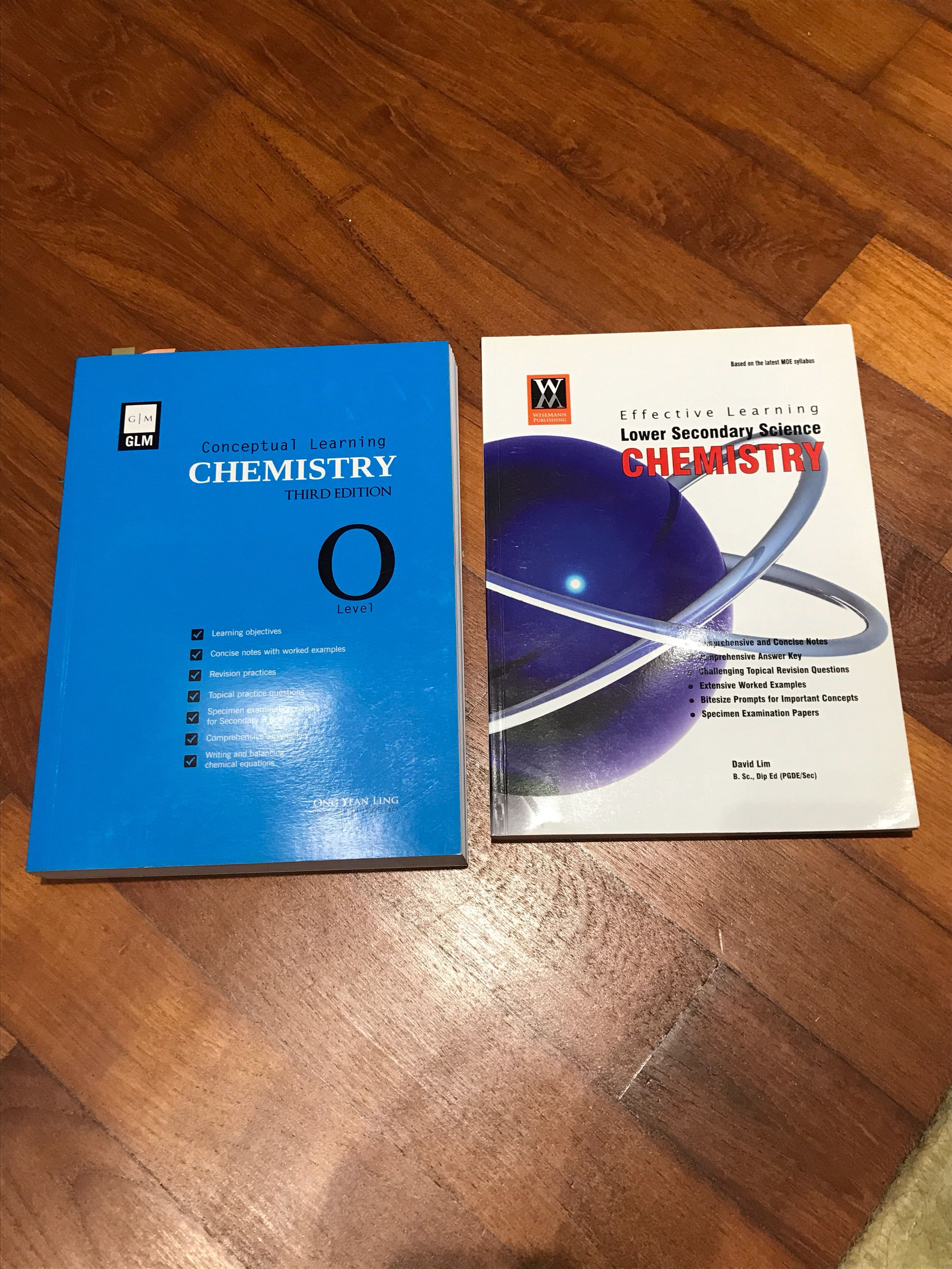 (W/ FREE RI A LEVEL CHEM NOTES) O level and lower secondary chemistry  textbooks with answers