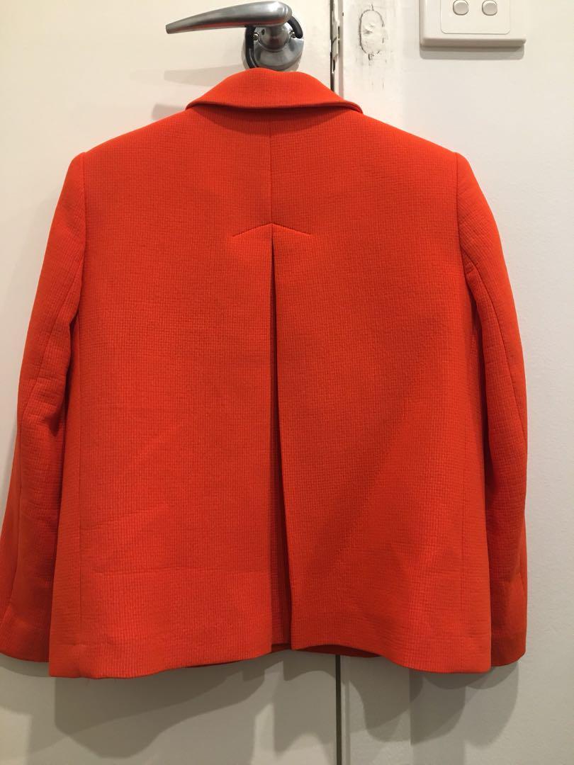 Zara basic Bright crop jacket - size S