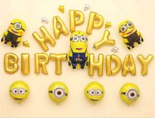 <In-stock> Happy Birthday Decoration set - Minions set 1