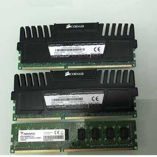 Corsair 8GB Ram x2 1600Mhz + Adata 8GB Ram 1600Mhz