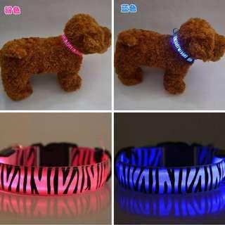 adjustable Pet led collar glow