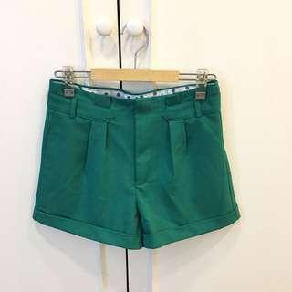 Green shorts with polka inner detail (from BKK)