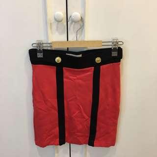 Forever 21 orange clolor block skirt