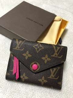 Victorine designer LV Louis Vuitton wallet purse coin Zipper pink fuschia hot monogram brown