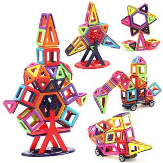 🔥Ready Stock🔥Magnetic Blocks Magnetic Building Sets Toys for Kids Children Toy 120pcs